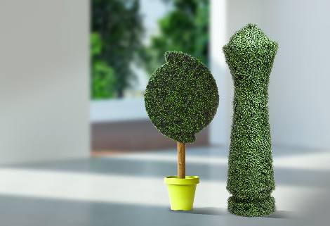 Make your event the talk of the town with custom and unique-shaped artificial topiaries.