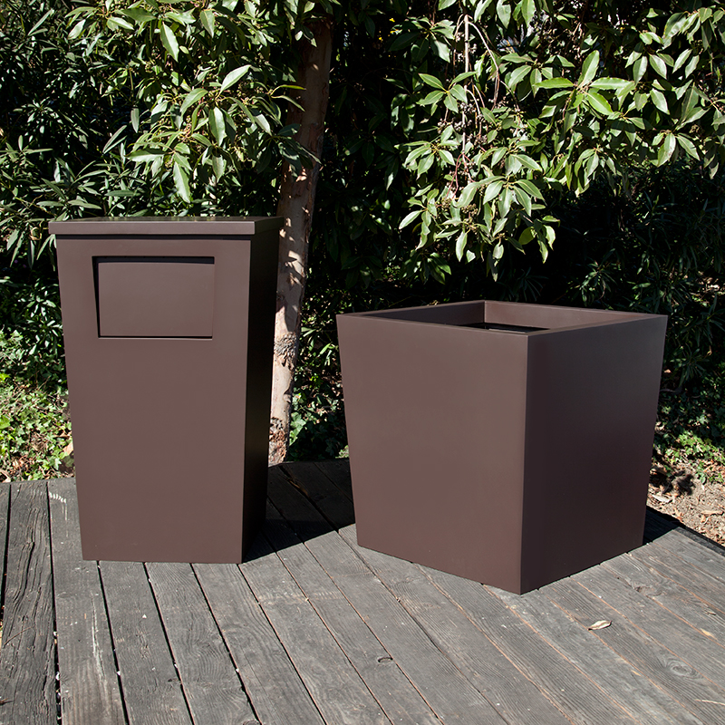 Half Round Trash Cans additionally mercialzonearchtecdoubleparkviewsteelslottedrecyclingandwastecontainer moreover Dog Park Equipment in addition Ha 287 31 741 likewise Kn Bs350. on metal outdoor trash receptacles commercial