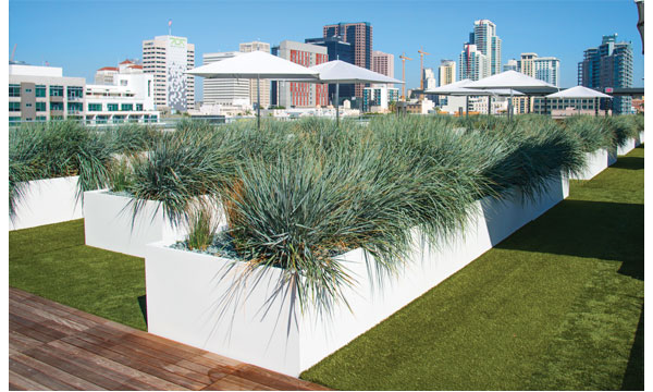 Rooftop Garden Containers | EV Lofts, San Diego