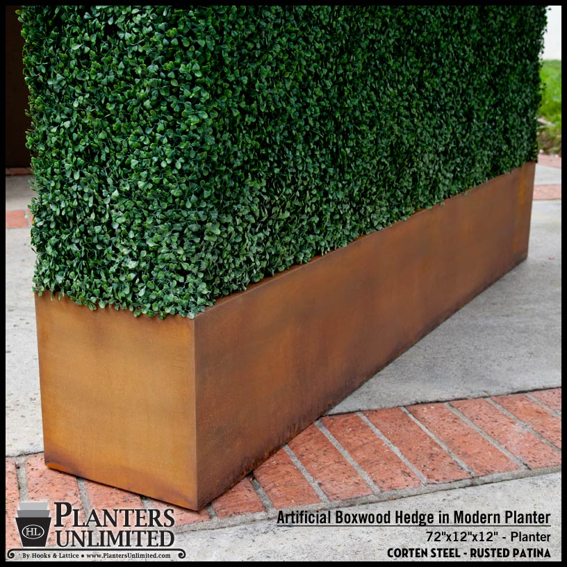 Boxwood Hedge In Modern Planter Planters Unlimited Blog