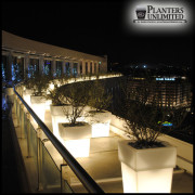 Messina Illuminated Square Planters