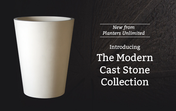 Modern Cast Stone Planters Collection