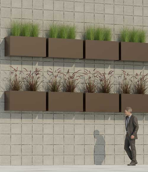 Wall Mount Commercial Planters